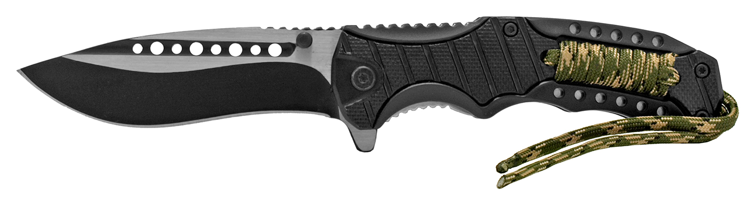 4.88 in Tactical Paracord Folding Pocket Knife - Black