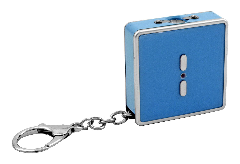 Mini Compact Keychain Stun Gun with Flashlight - Light Blue