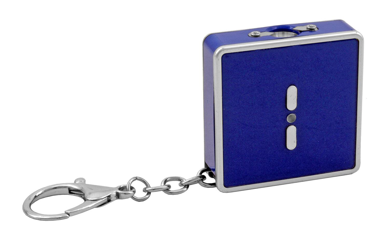 Mini Compact Keychain Stun Gun with Flashlight - Blue