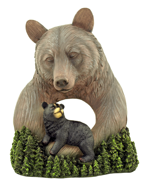 Gentle Guidance - Bear and Cub Statue Figurine - DWK