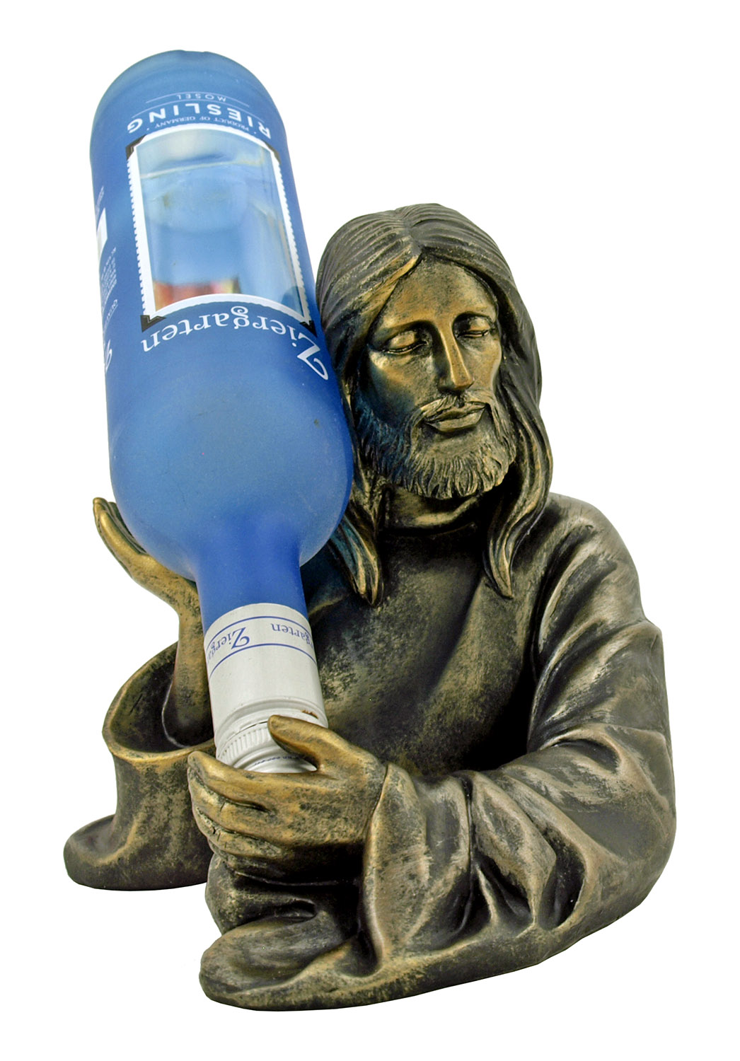 Water into Wine - Christian Jesus Wine Bottle Holder Statue Figurine - DWK