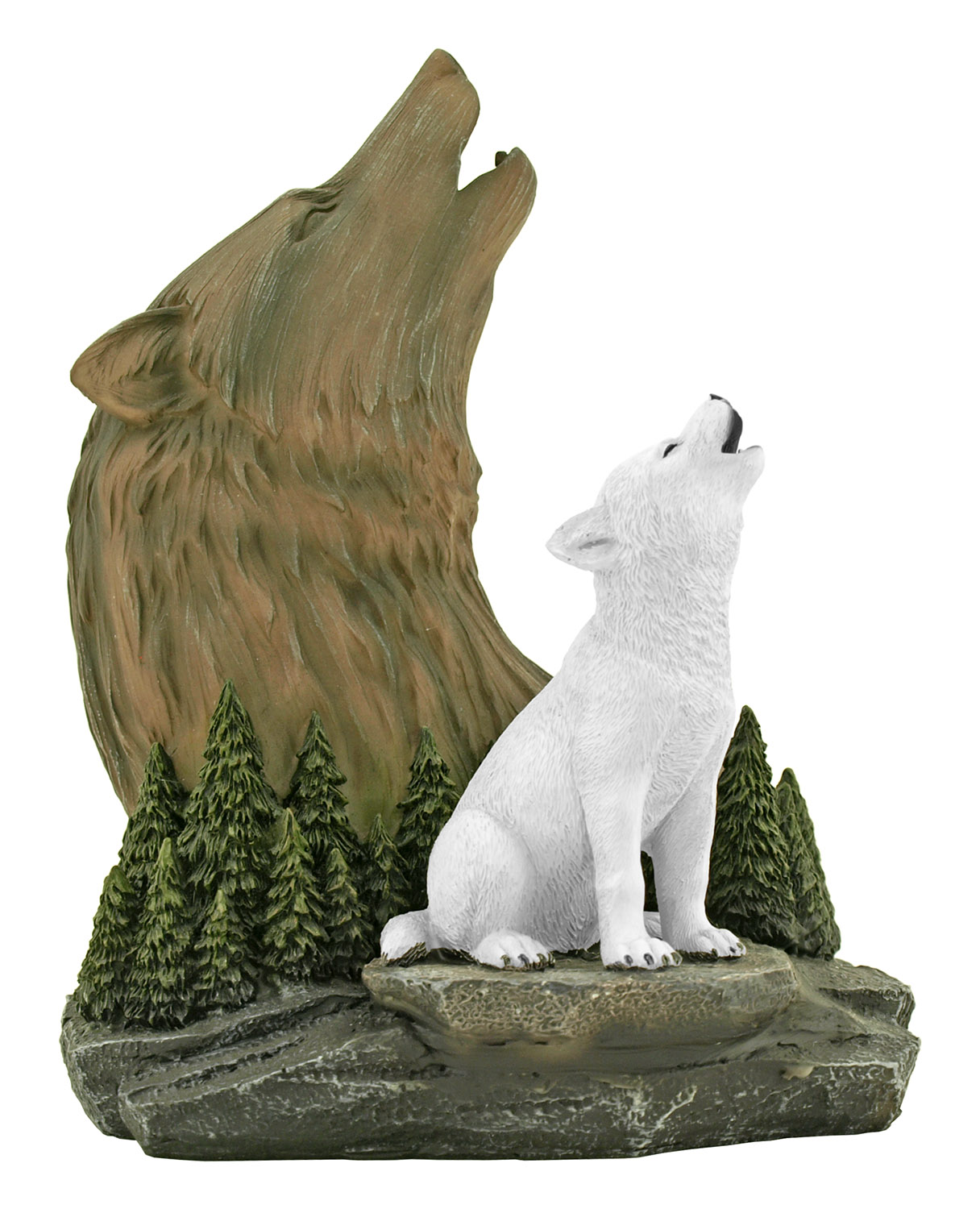 Spirited Legacy - Wolf with Wolf Pup Statue Figurine - DWK
