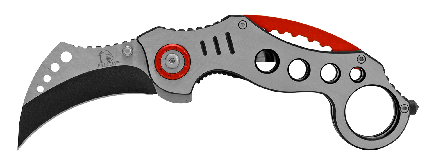 5.25 in Karambit Stainless Steel Folding Pocket Knife - Black