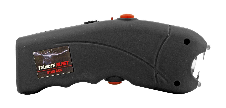 5.13 in Traditional Style Firm Grip Stun Gun Flashlight - Black