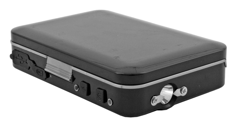 Credit Card Driver's License Carrier Wallet Stun Gun Flashlight - Black
