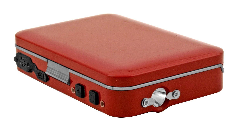 Credit Card Driver's License Carrier Wallet Stun Gun Flashlight - Red