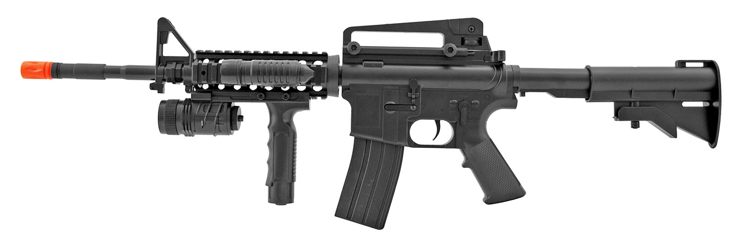 CYMA P1158B Spring Airsoft M4 M4A1 Replica Carbine Assault Rifle with Foregrip