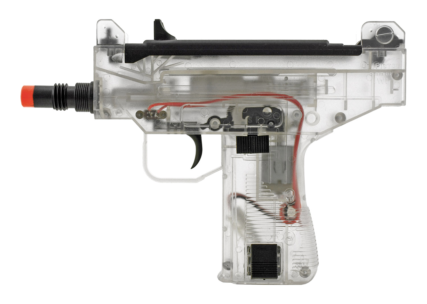 Umarex IWI Micro UZI Electric Powered Airsoft Sub Machine Gun AEG - Clear