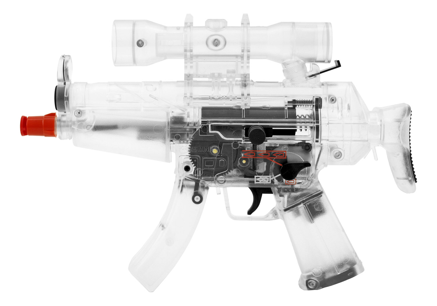 Mini-5 Combat Zone Dual Spring and Electric Powered Full Auto Airsoft Machine Gun