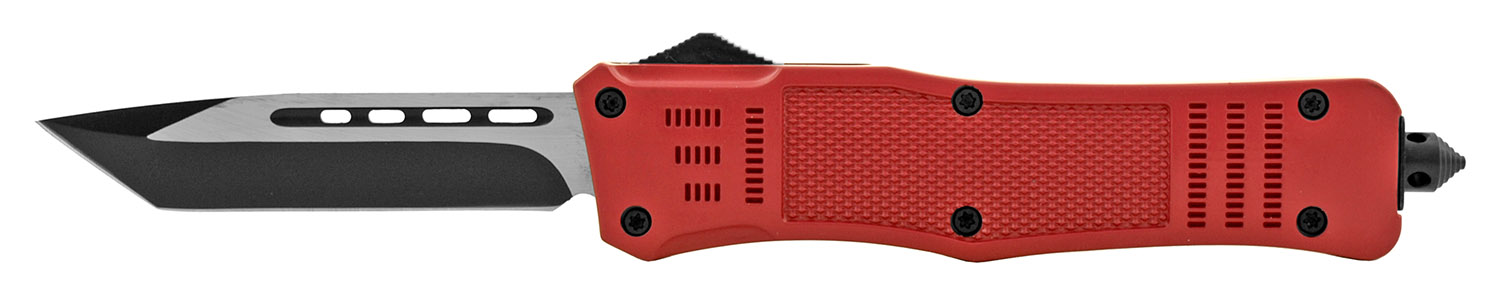 5.75 in Out the Front Sliding OTF Folding Pocket Knife - Red