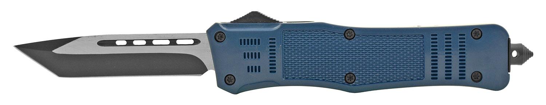 5.75 in Out the Front Sliding OTF Folding Pocket Knife - Blue
