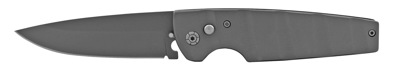 4.63 in Heavy Duty Stainless Steel Flick Blade Switchblade Folding Pocket Knife - Grey