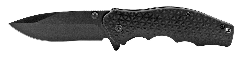 4.5 in Regular Drop Point Folding Pocket Knife with Belt Clip - Black