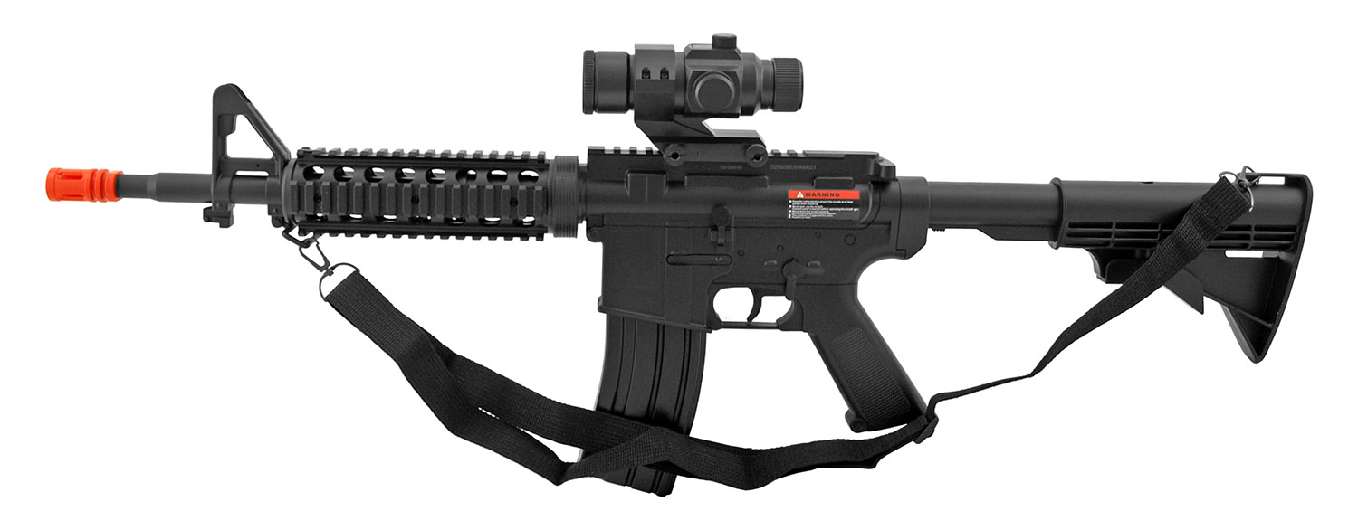 Well D2802 M4A1 AR-15 Style Electric Powered Airsoft Assault Rifle