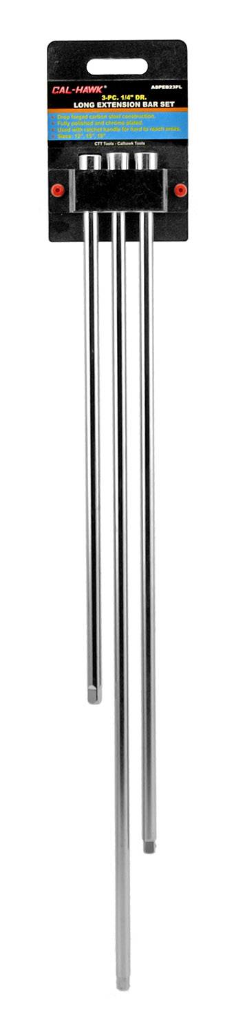 3-pc. 1/4 in Drive Long Extension Bar Set
