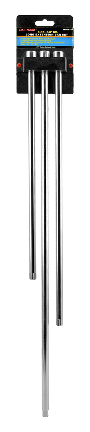3-pc. 3/8 in Drive Long Extension Bar Set