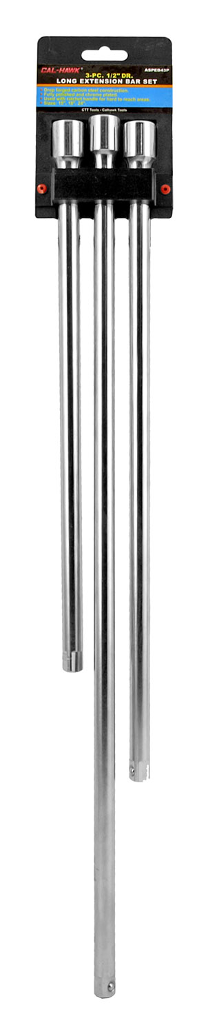 3-pc. 1/2 in Drive Long Extension Bar Set