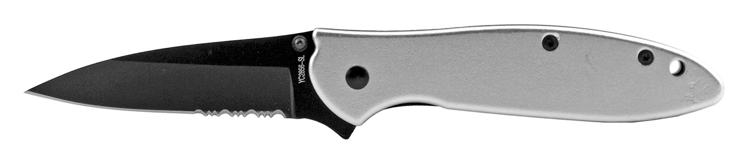 4.25 in Spring Assisted Stainless Steel Folding Pocket Knife with Belt Clip - Silver
