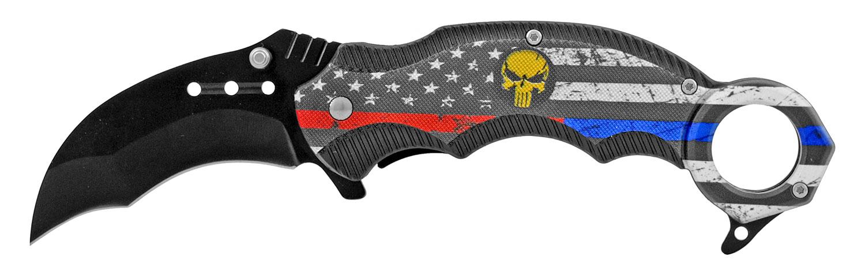 5 in Karambit Tactical Fighting Pocket Knife - United States Flag