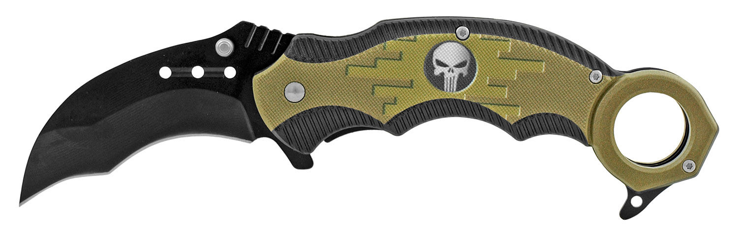 5 in Karambit Tactical Fighting Pocket Knife - Black