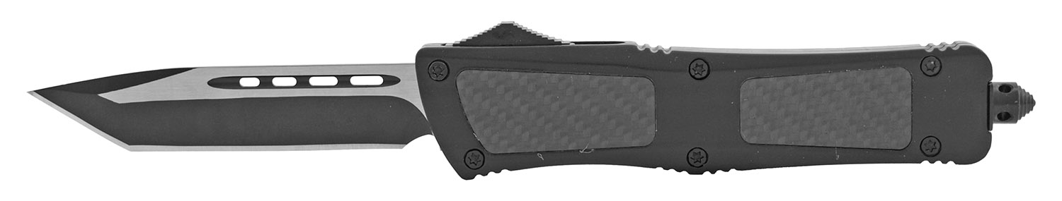 5.75 in OTF Out the Front Stainless Steel Automatic Folding Pocket Knife - Black