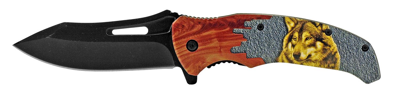 4.75 in Colorado Cowboy Folding Pocket Knife - Wolf