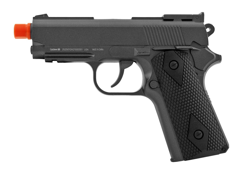 Well 911 G291 Zinc Alloy Co2 Powered High Performance 6mm Airsoft BB Handgun - Black