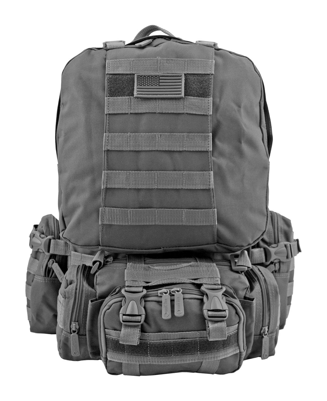 Large Tactical Assault Rucksack Backpack - Grey