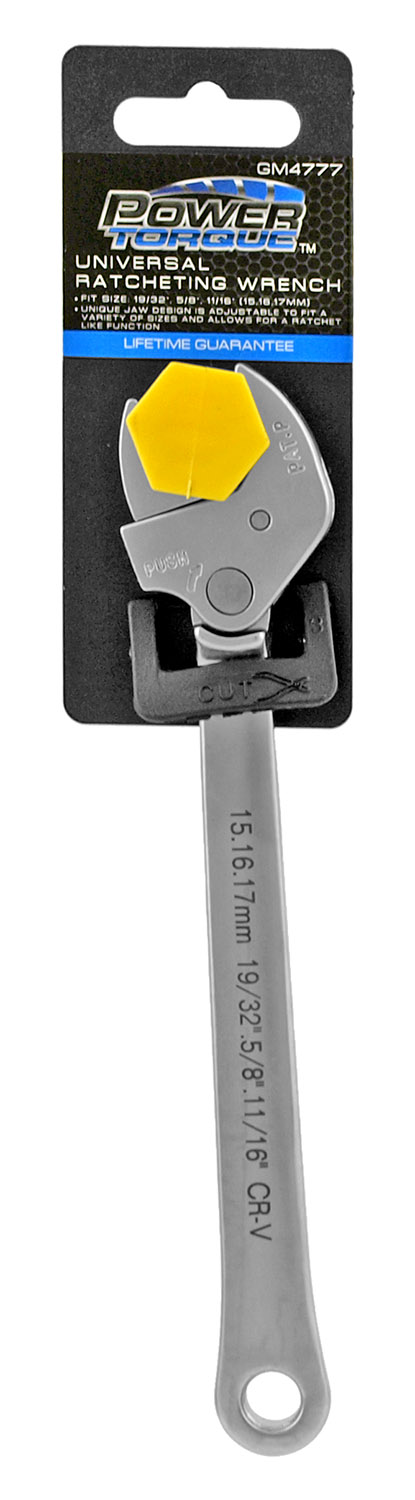Power Torque Universal Adjustable Ratcheting Wrench - Small