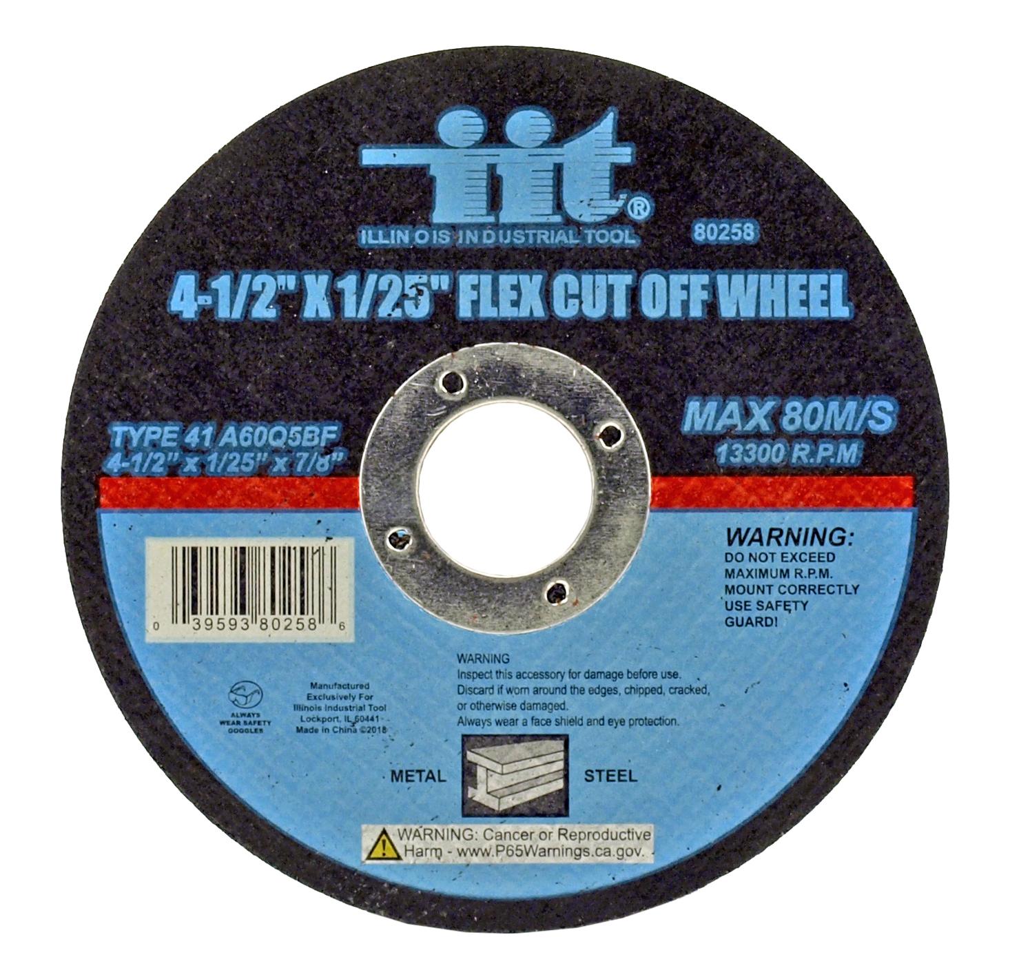 4-1/2 in x 1/25 in Flex Cut-Off Wheel