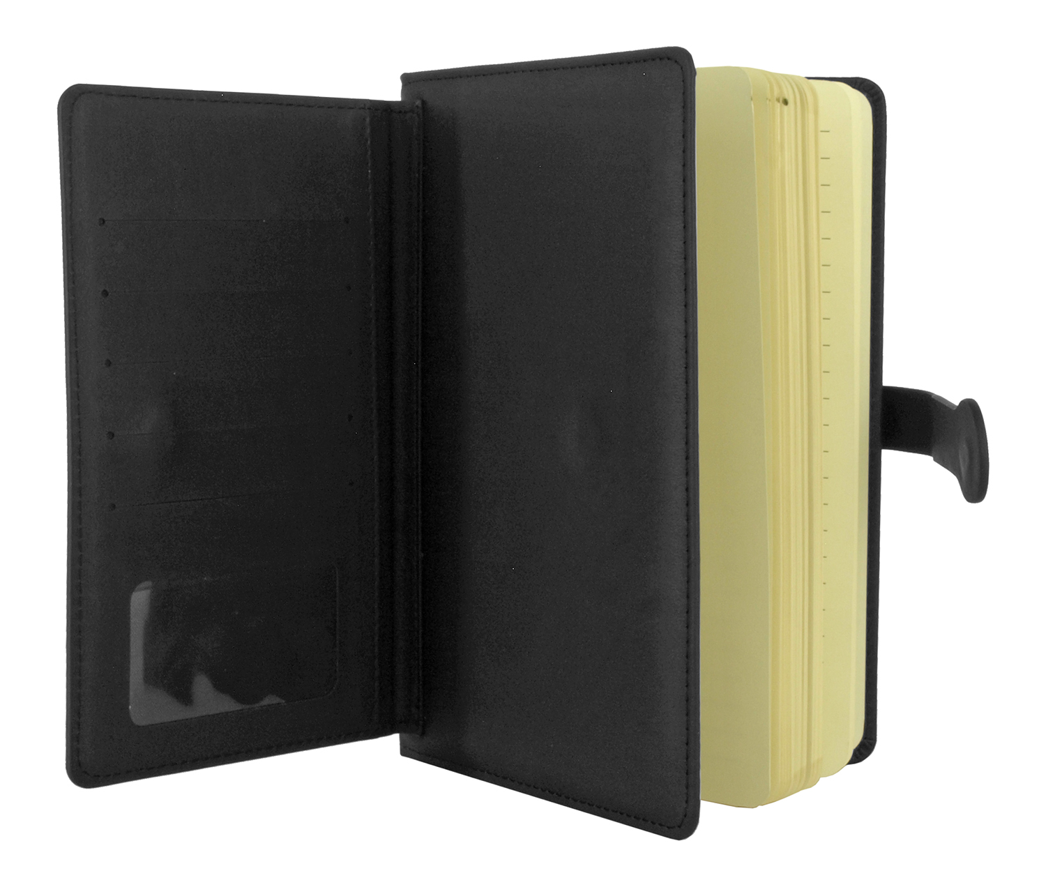 Notebook - Faux Black Leather