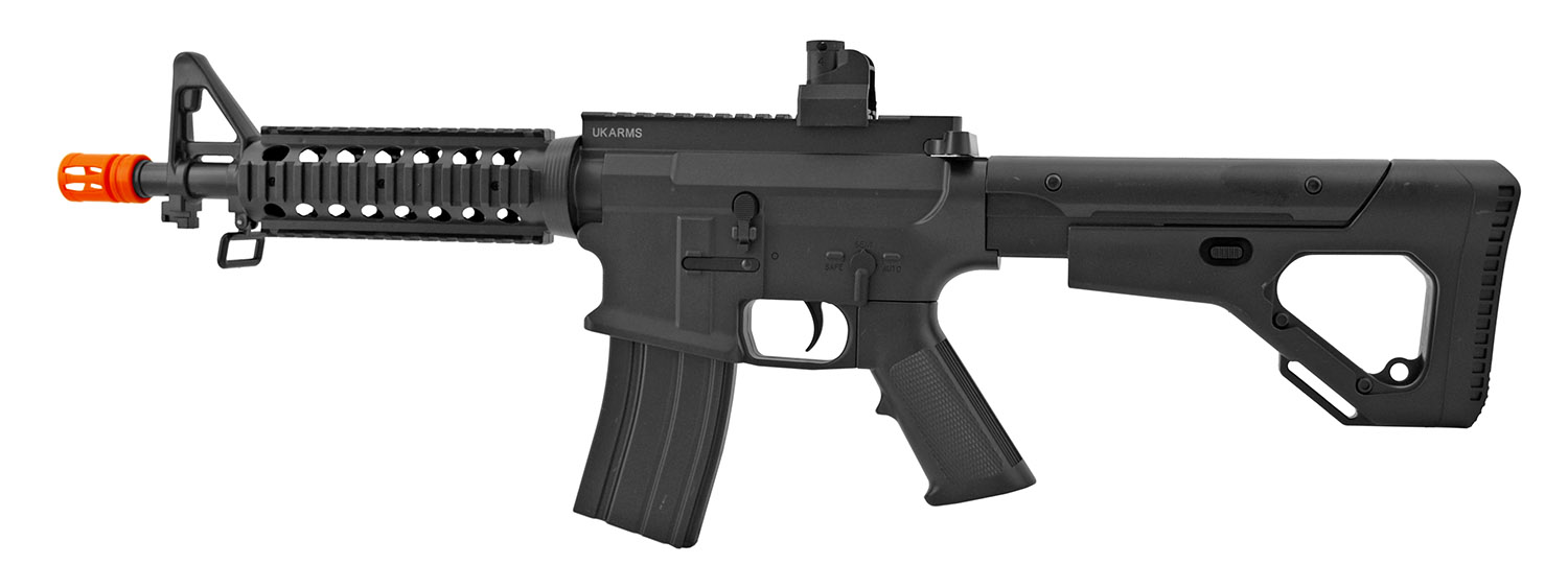 UK Arms P2209 M4 Quad RIS Spring Powered Airsoft Assault Rifle with Adjustable Stock