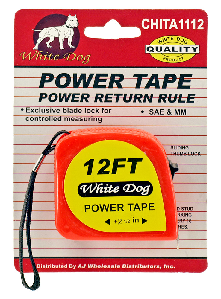 12' Tape Measure - Orange