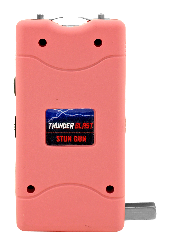 Thunder Blast Stun Gun Flashlight with Carrying Case - Pink