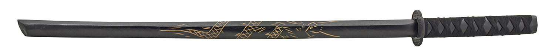40.25 in Traditional Wooden Practitioners Practice Samurai Katana Sword for Cosplay - Black