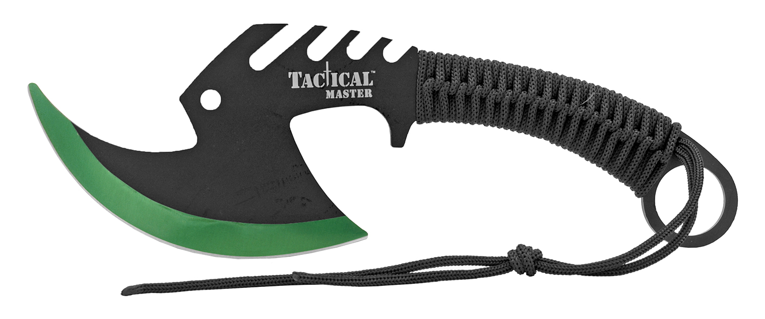 11.5 in Zombie Killer Skullsplitter Throwing Axe - Green
