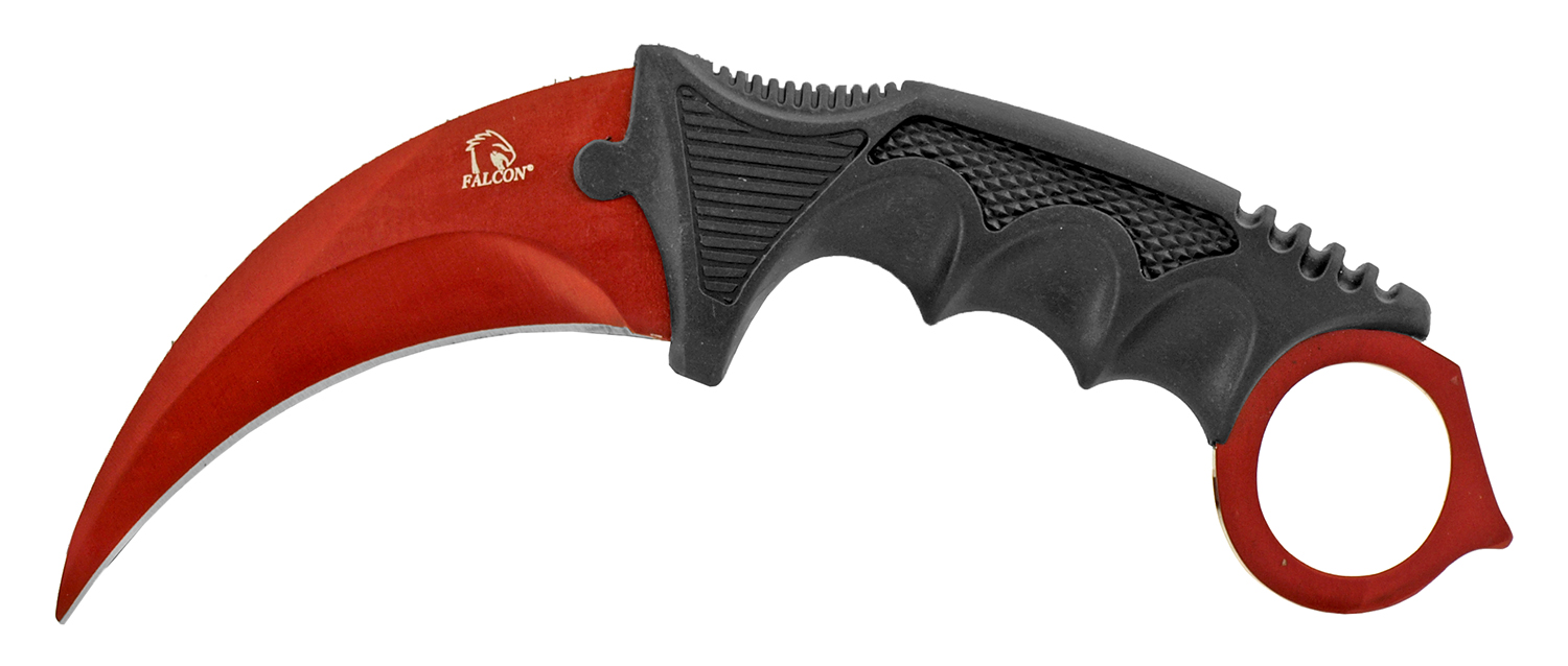 7.5 in Karambit Fighting Claw Knife with Carrying Case - Panigale