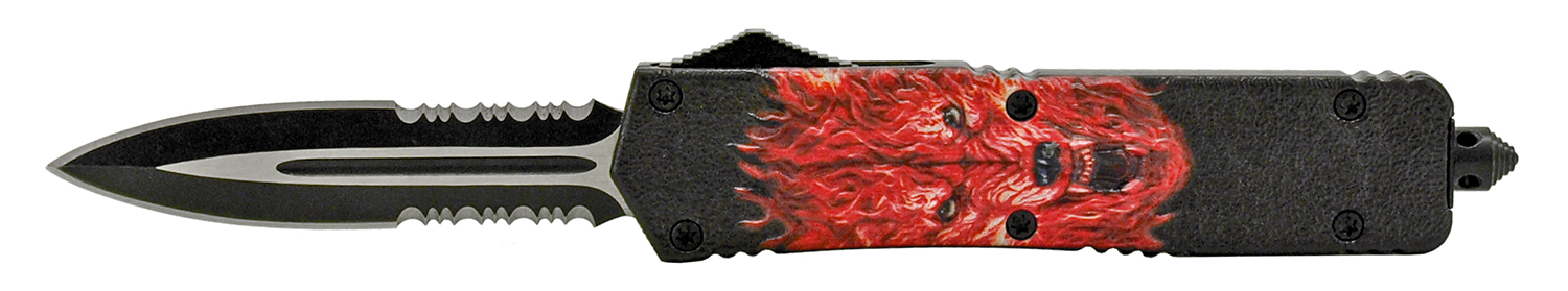 5.5 in High Tension Stainless Steel Out the Front Pocket Knife - Red