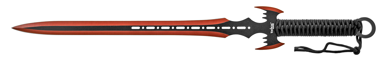 Stealth Ninja Sword and Kunai Throwing Knife Set with Sheath - Red