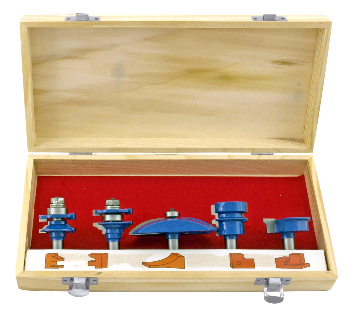 5 - pc. Industrial 1/2 in Shank OGEE Cutter Router Bit Set - Neiko Tools