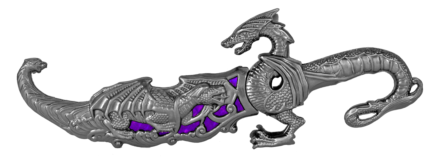 9.25 in Dragon Dagger - Purple