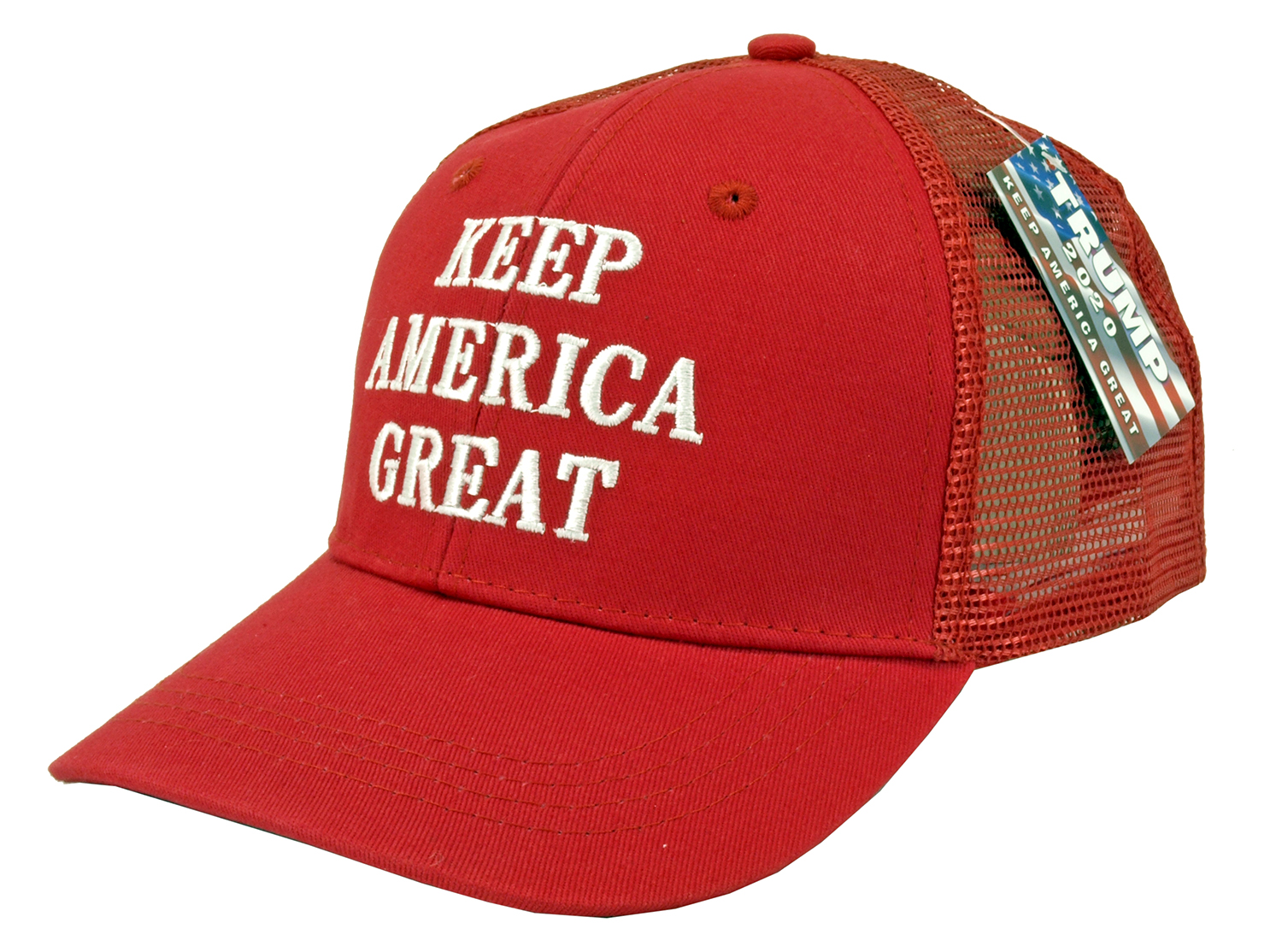 12 - pc. Trump Keep America Great Trucker Adjustable Hat - Assorted Colors