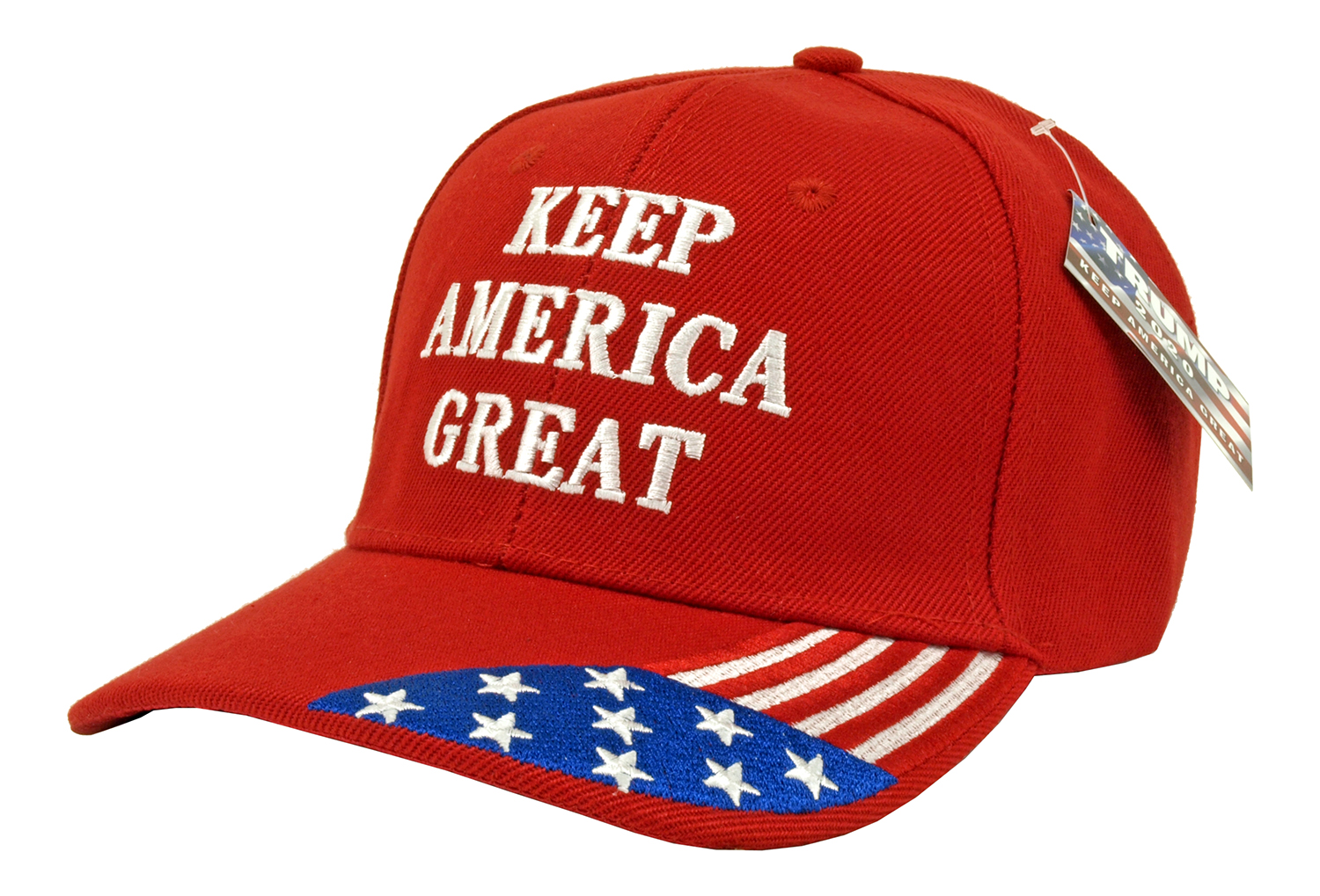 12 - pc. Trump Keep America Great with Flag Adjustable Hat - Assorted Colors