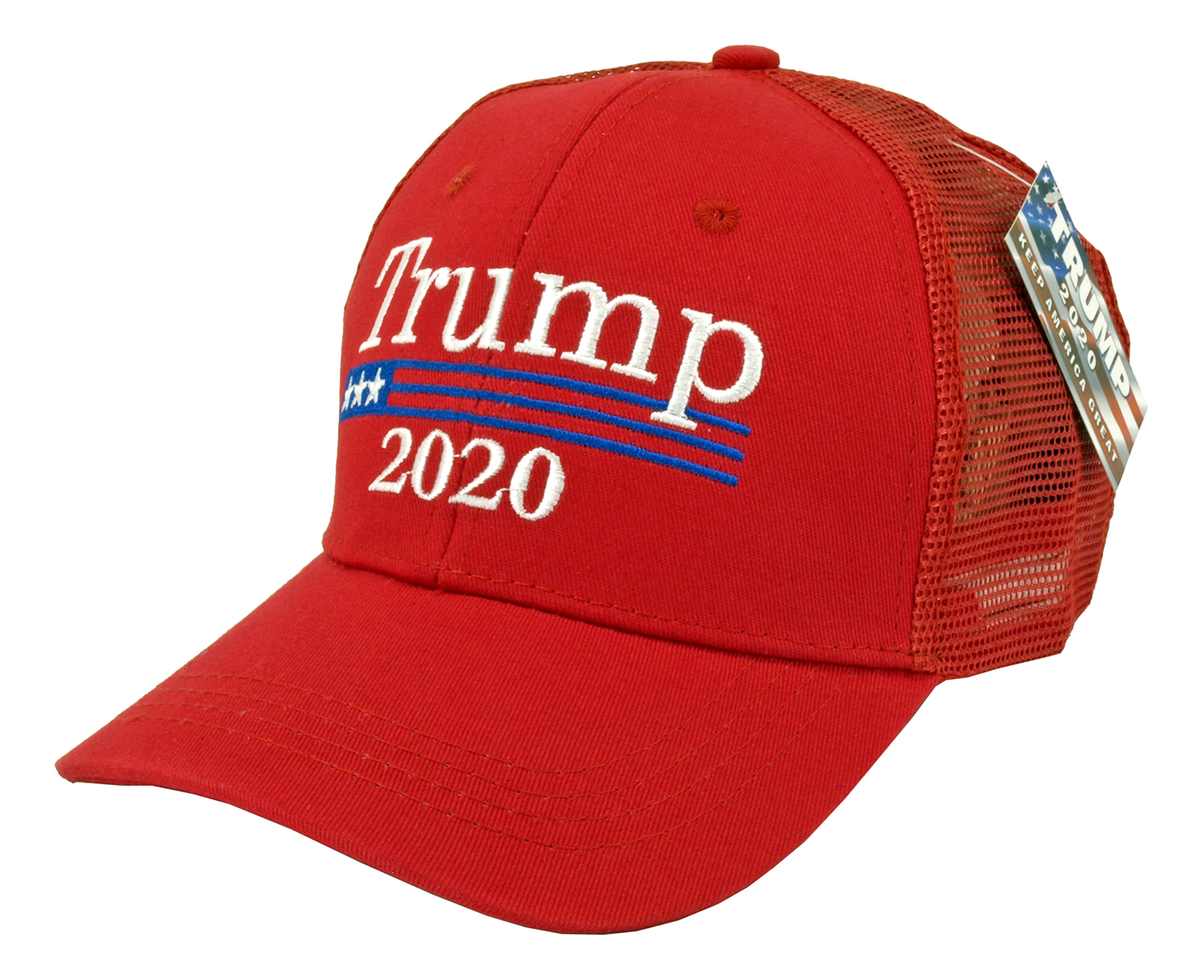 12 - pc. Trump 2020 Adjustable Trucker Hat - Assorted Colors
