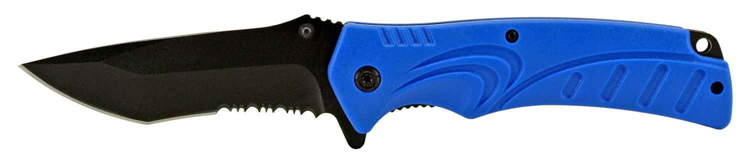 4.75 in NuWave Folding Pocket Knife - Blue