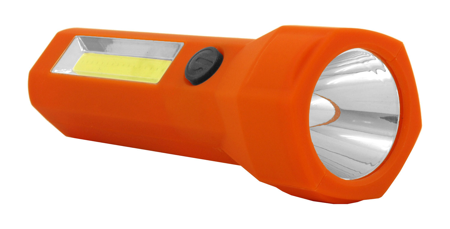 Emergency Road Side Assistance Construction COB LED Flashlight - Assorted Colors