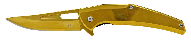 4.75 in Stainless Steel Tru Tech Folding Pocket Knife - Golden