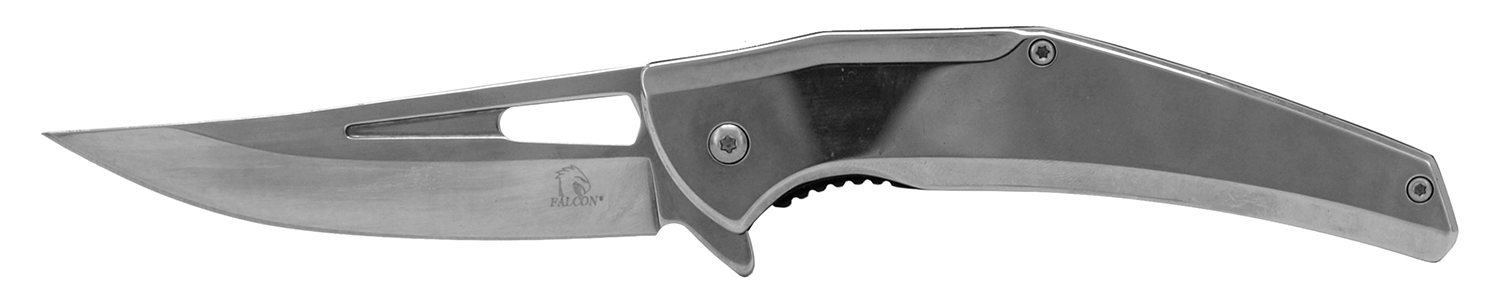 4.75 in Stainless Steel Tru Tech Folding Pocket Knife - Chrome