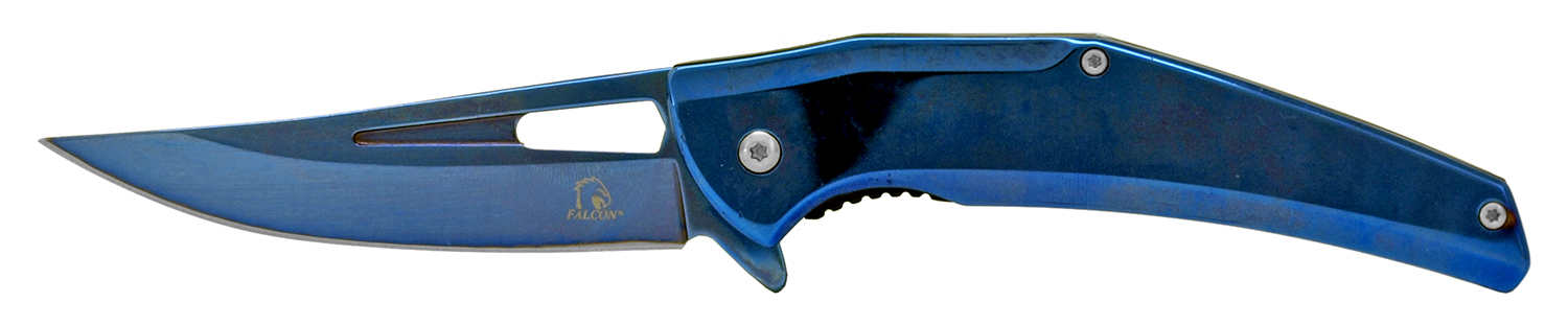 4.75 in Stainless Steel Tru Tech Folding Pocket Knife - Blue