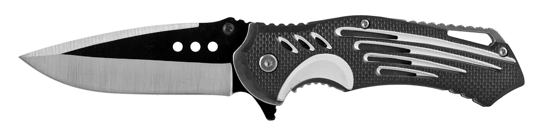 4.75 in Air Stream Folding Pocket Knife - Silver